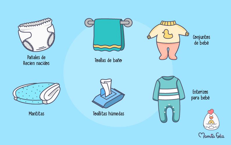 Lista De Cosas Para Bebes Recien Nacidos.Articulos Basicos De Bebes Para Llevar En Tu Bolso De Maternidad