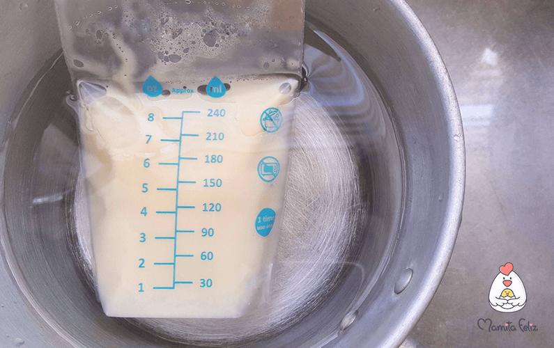 como se debe calentar la leche materna extraida