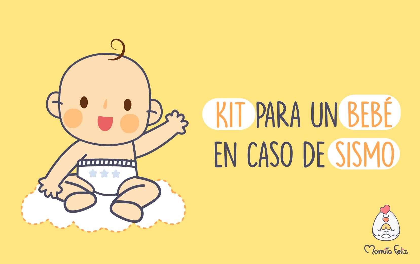 Objetos que debe contener una mochila de emergencia para bebés en un sismo
