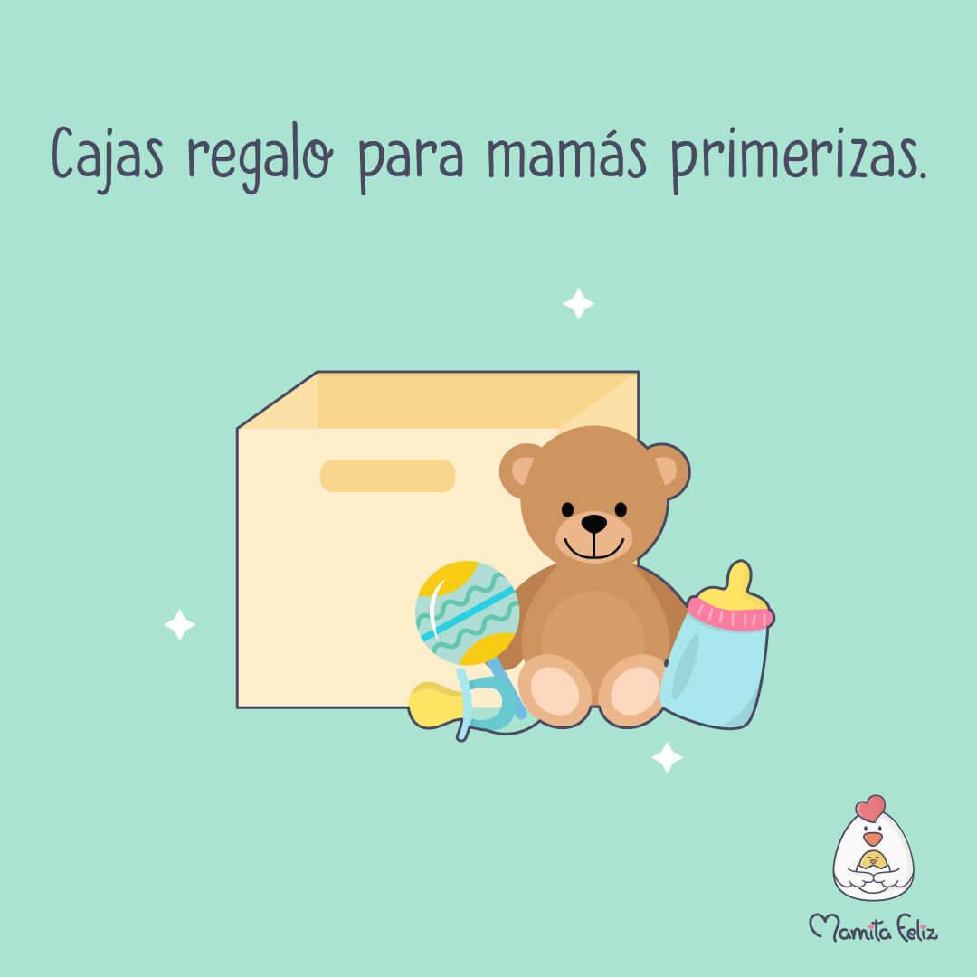 caja con regalo para madre primeriza