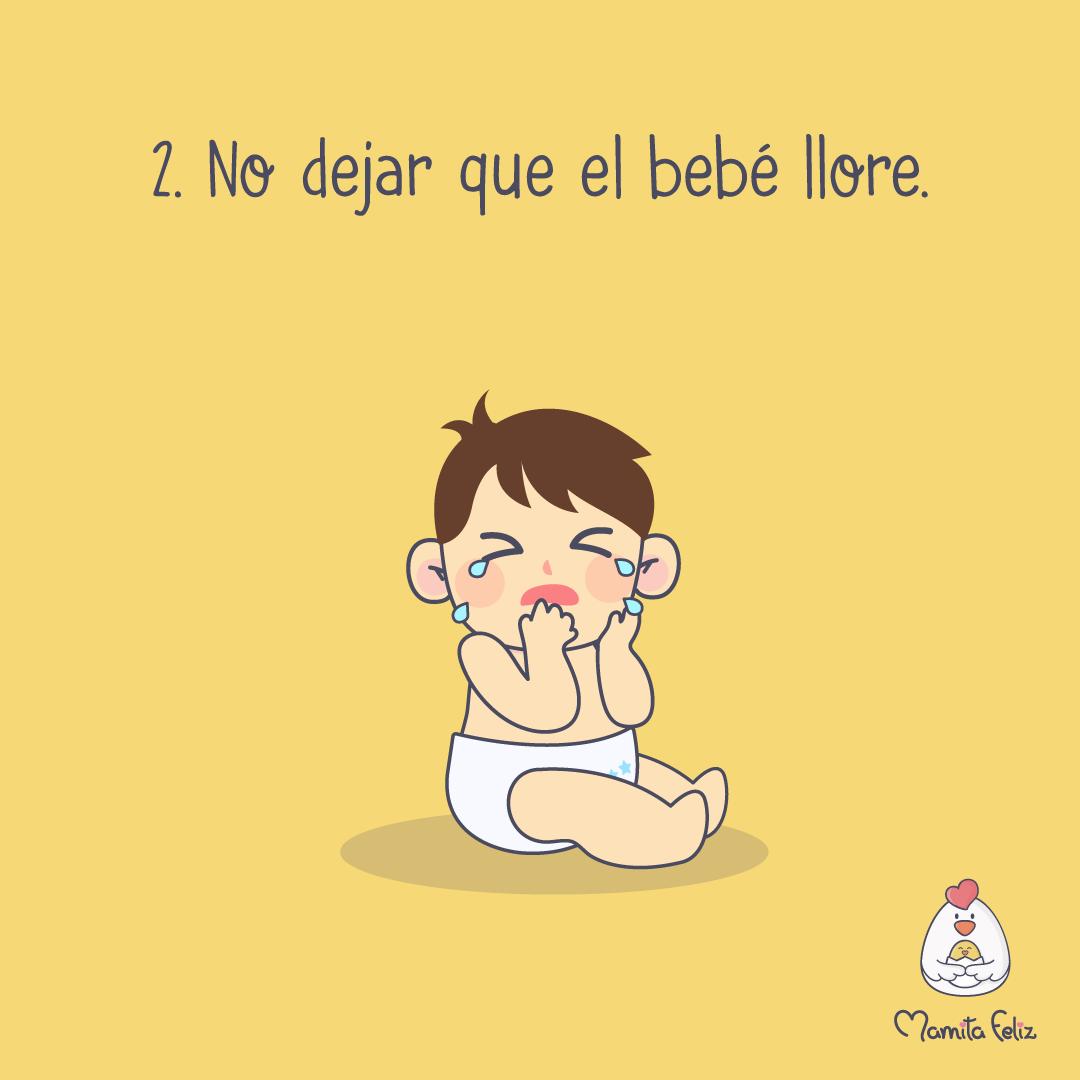 dejar que el bebe llore