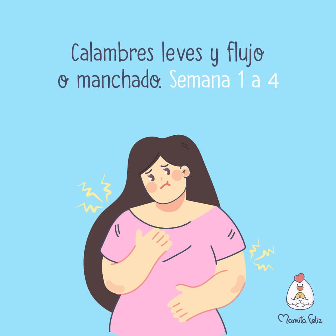 flujo o manchado en el embarazo