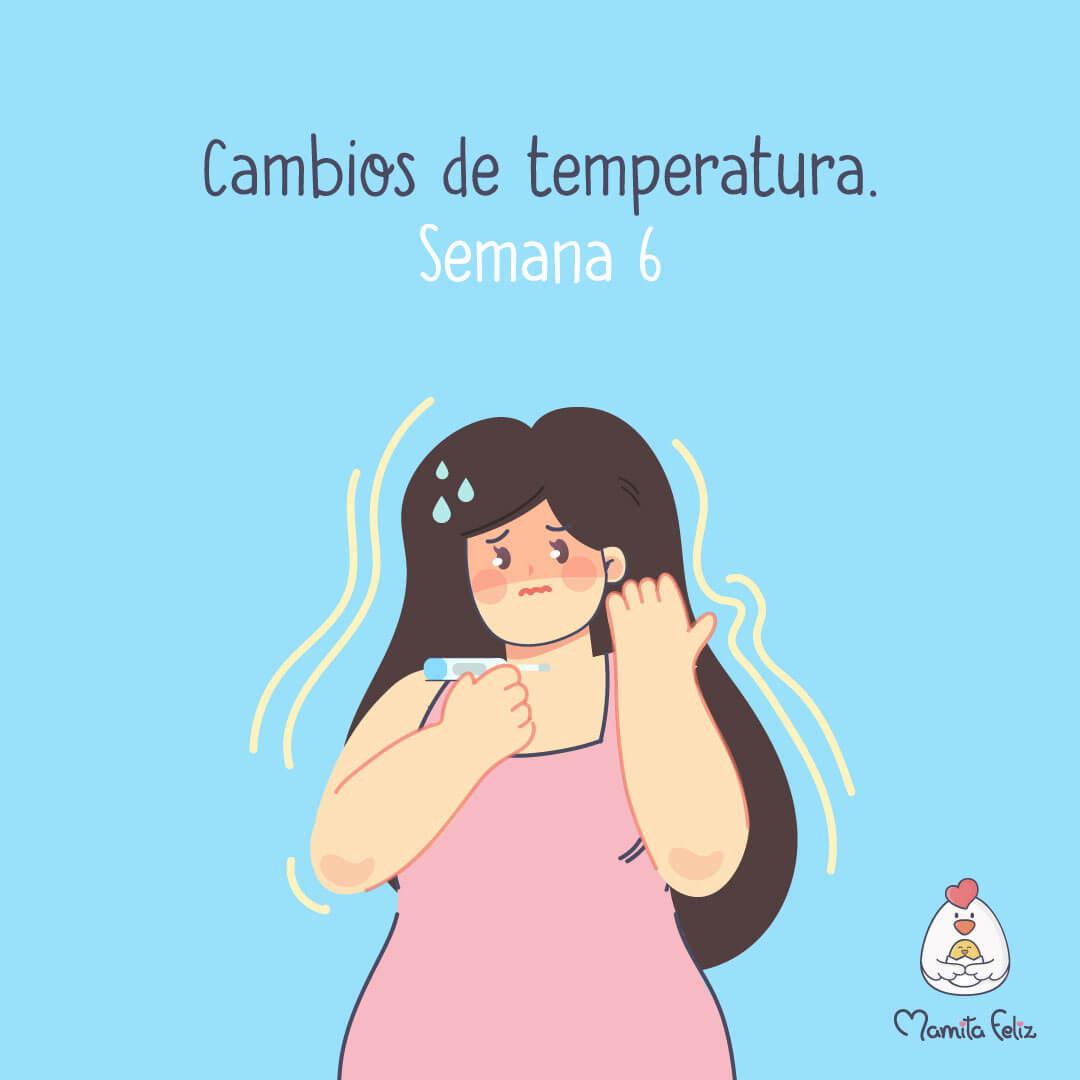 cambios de temperatura en el embarazo