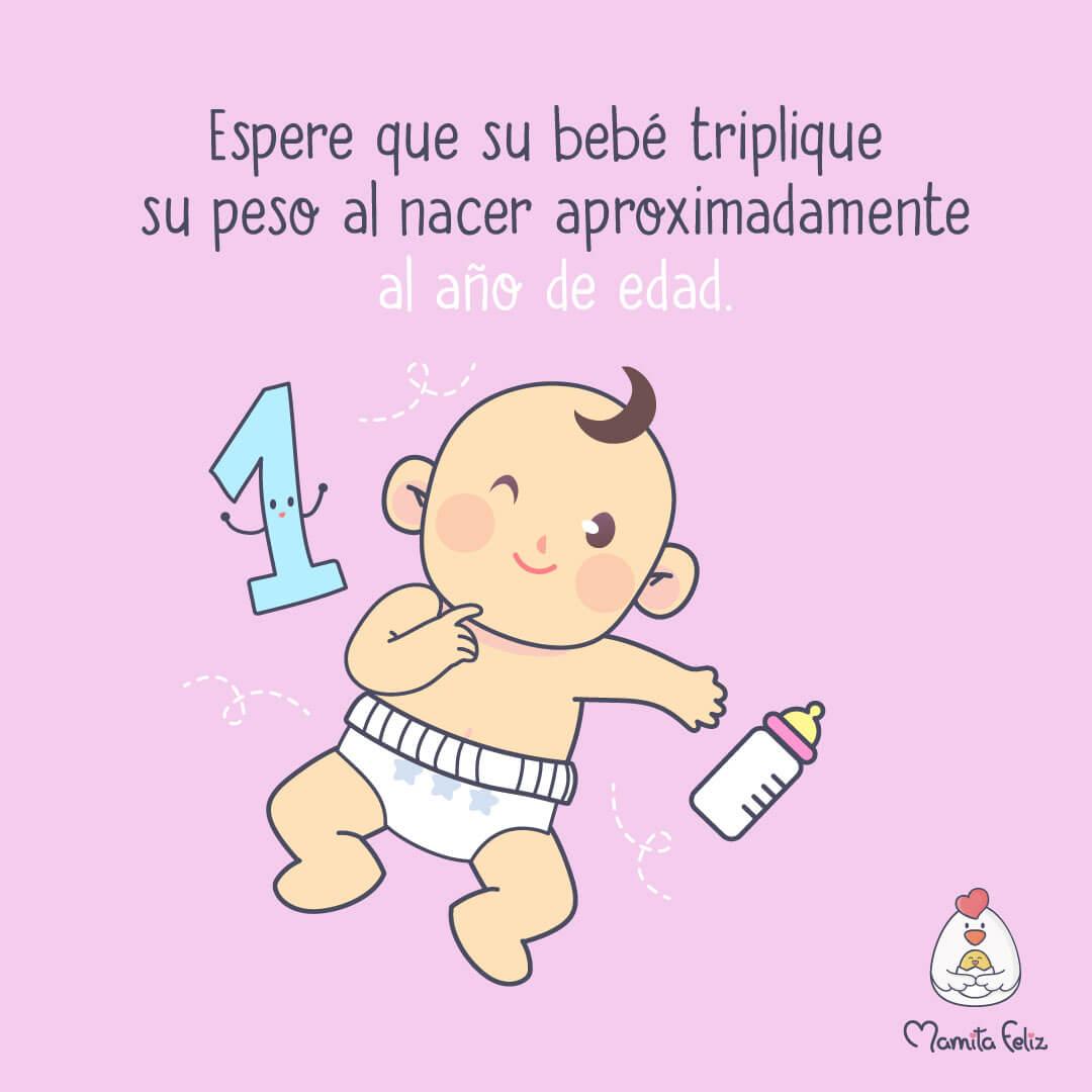 crecimiento de bebes hasta 1 año
